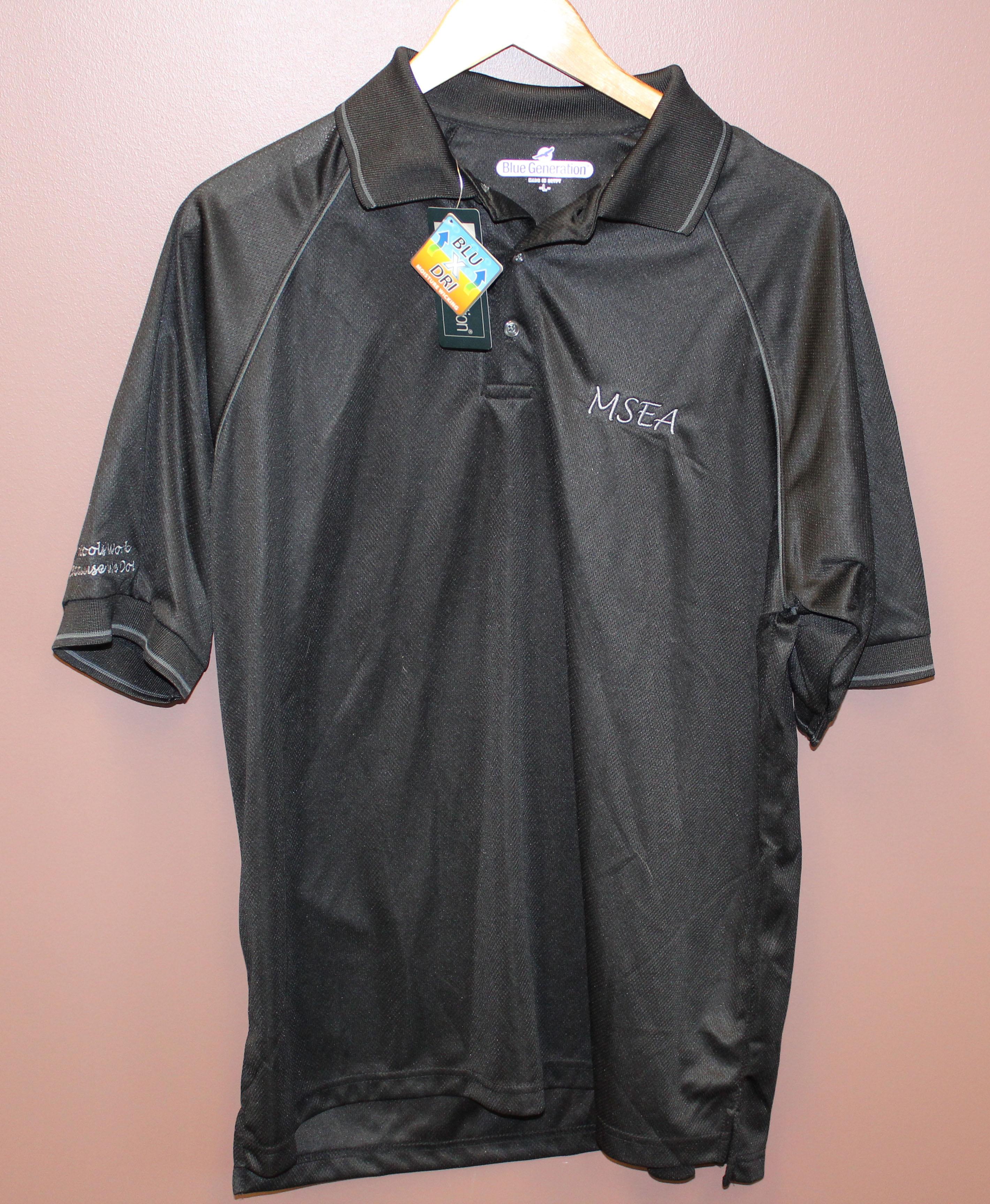 Black MSEA polo t-shirt